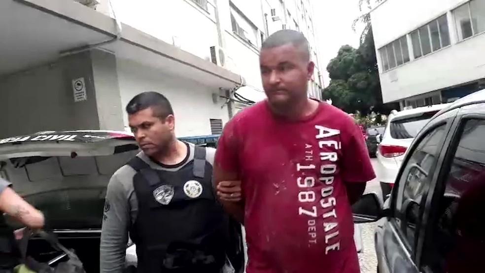 Um dos presos na Operação Gerais, contra milícias — Foto: Reprodução/TV Globo