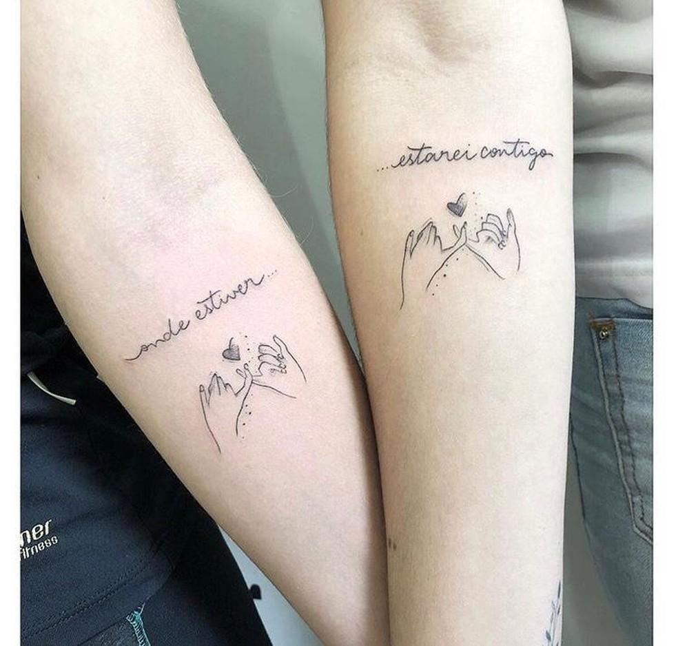 Ana tem uma tatuagem que foi feita junto com a irmã  — Foto: Arquivo Pessoal