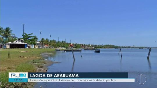 Câmara de Cabo Frio, RJ, discute poluição da Lagoa de Araruama em audiência pública