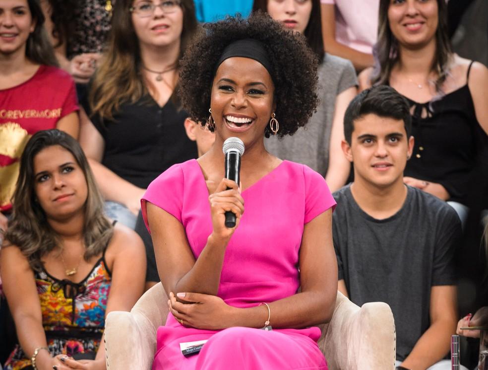 Maria Julia Coutinho: feliz com a conquista profissional, e animada para a estreia na bancada do Jornal Nacional — Foto: Ramón Vasconcelos/Globo
