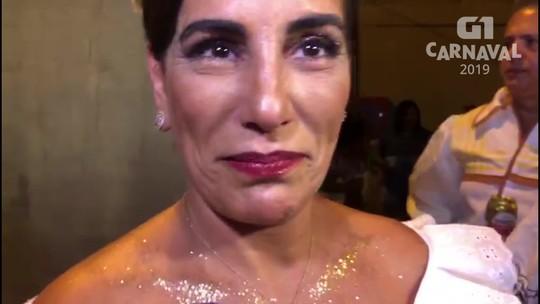 Glória Pires se diz emocionada em desfilar pela Portela representando mãe de Clara Nunes