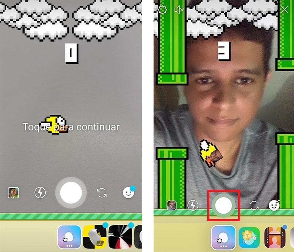 É possível se filmar jogando Flappy Bird no Istagram Stories — Foto: Reprodução/TechTudo
