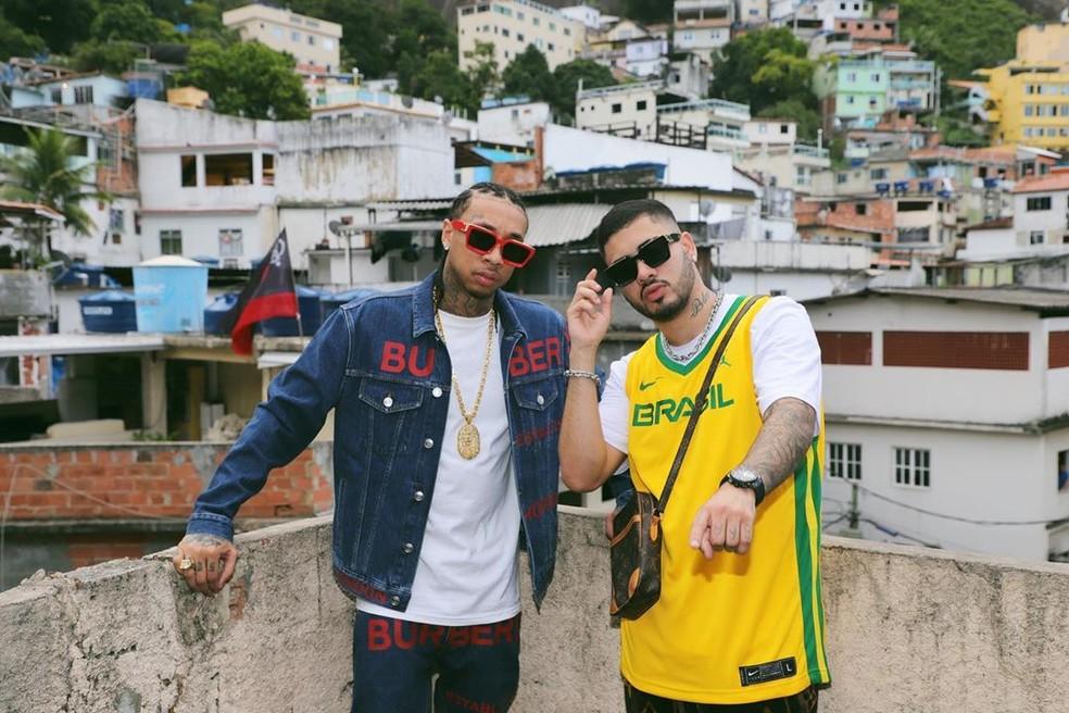 Tyga com Kevinho — Foto: Reprodução/Instagram