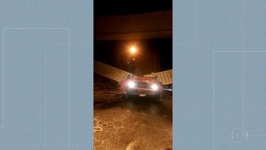 Viaduto cai em cima de caminhão em Coelho Neto