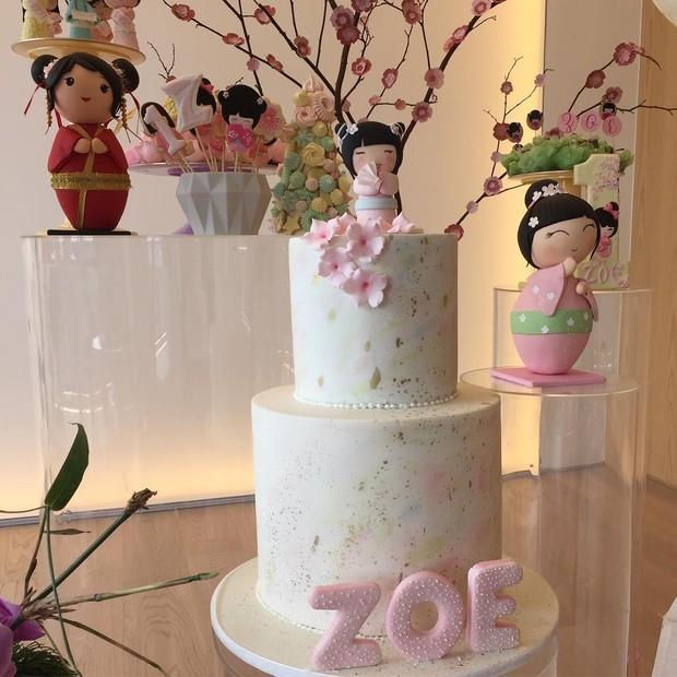 Decoração de mesversário de Zoe (Foto: Instagram/Reprodução)