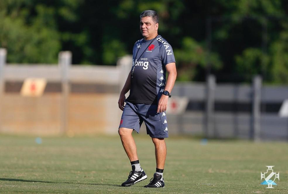 Marcelo Cabo quer levar força máxima do Vasco para jogo com o Boavista — Foto: Rafael Ribeiro/Vasco da Gama
