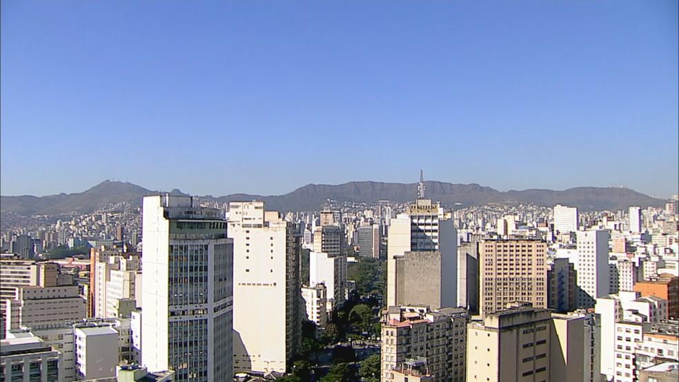 Maior parte de BH não tem chuva há um mês. — Foto: Reprodução/TV Globo