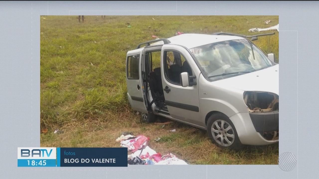 Batida entre carro e carreta deixa um morto e cinco feridos no recôncavo da Bahia