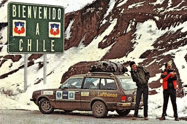A placa dava boas-vindas ao Chile – e a temperaturas abaixo de zero em pleno inverno (Foto: Acervo MIAU)