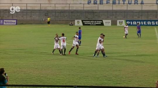 Depois de levar gol com apenas 7 segundos, River-PI vira sobre o Piauí e conquista Piauiense sub-17