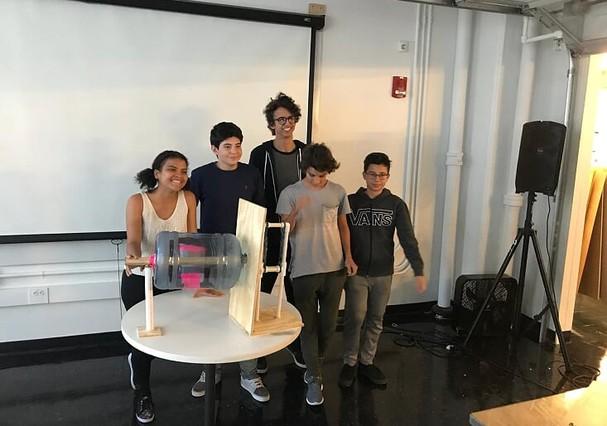 Francielly no workshop no MIT, em Boston, EUA (Foto: Divulgação)