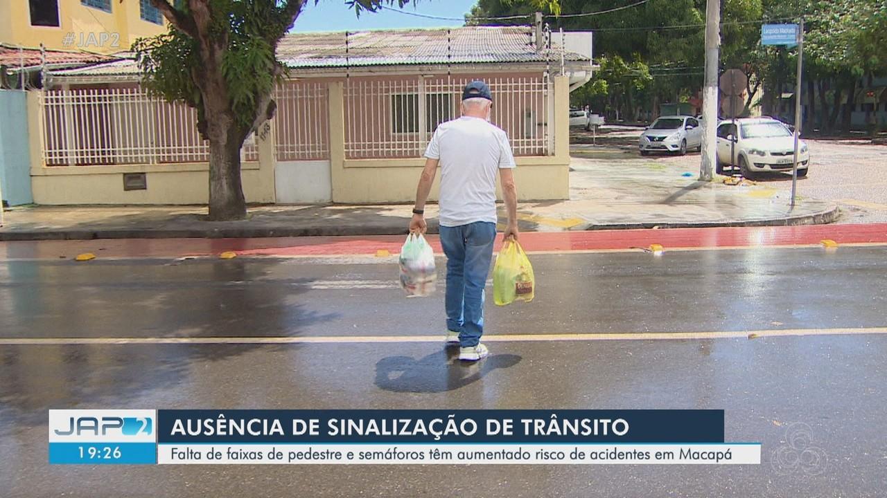 Falta de faixas de pedestre e semáforos têm aumentado risco de acidentes em Macapá