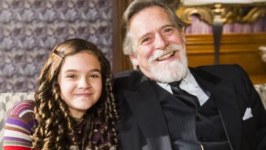José de Abreu exalta afinidade com Mel Maia: 'É como se fosse uma neta'