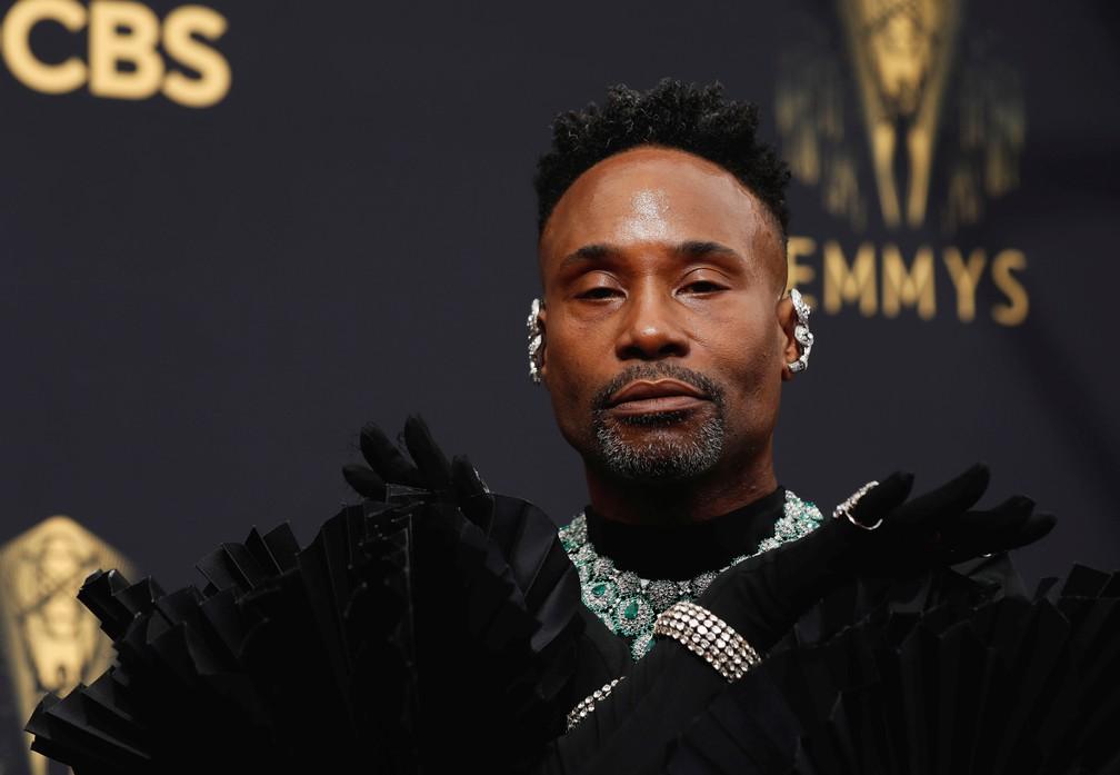 Billy Porter chega ao Emmy 2021 — Foto: Mario Anzuoni/Reuters