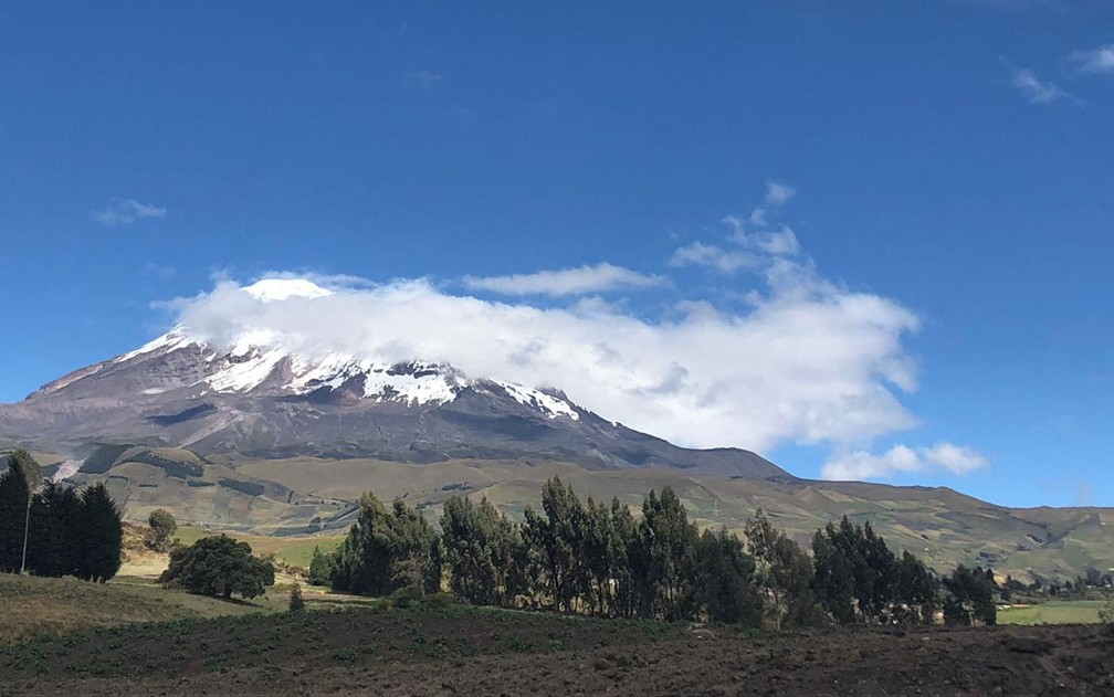 Apesar dos problemas, Claudinei destaca a beleza do Equador — Foto: Claudinei Batista/Arquivo pessoal