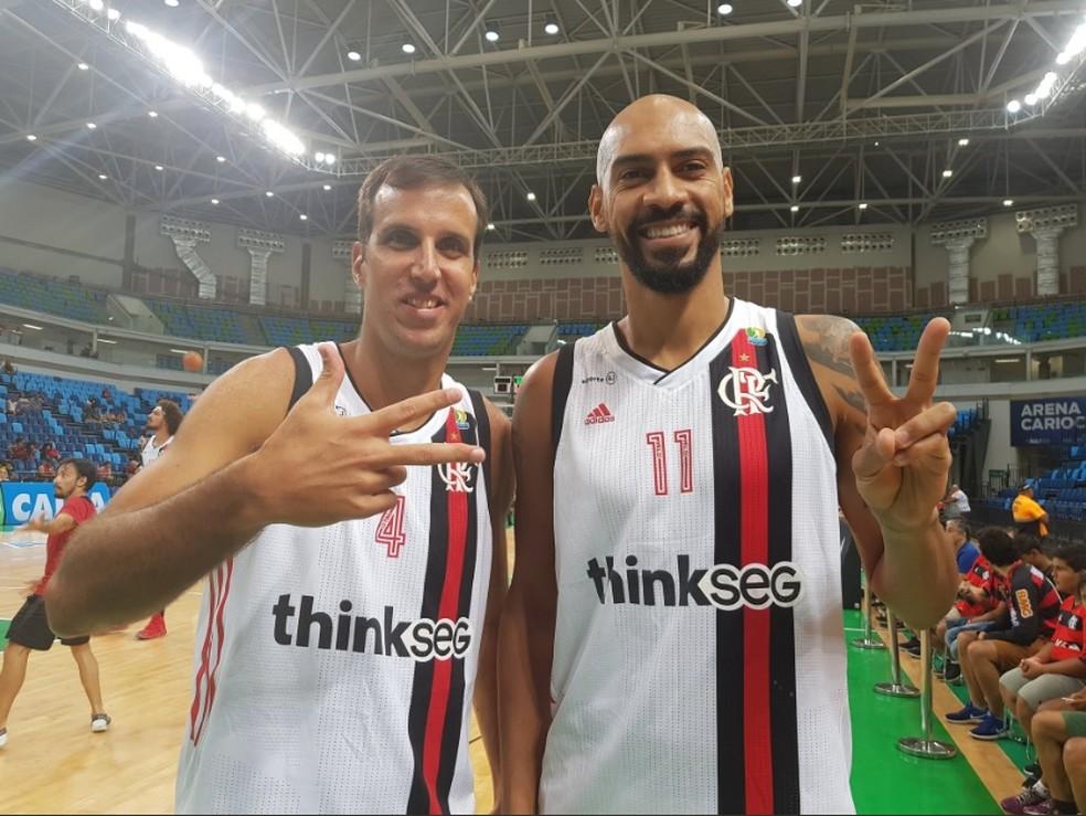 Marcelinho e Marquinhos foram peças fundamentais na vitória do Flamengo (Foto: Reprodução / Twitter)