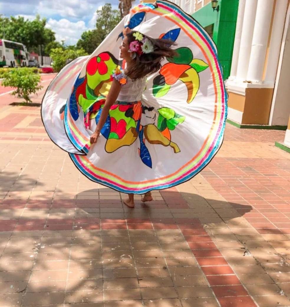 Dançarina de Cuiabá participa de competição internacional — Foto: Instagram/Reprodução