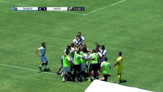 O gol de Vasco 1 x 0 Taubaté pela Copa São Paulo de Futebol Júnior