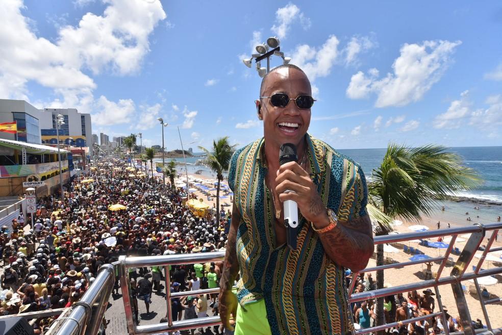 Léo Santana também comandou arrastão em 2019, em Salvador — Foto: Max Haack/Ag Haack