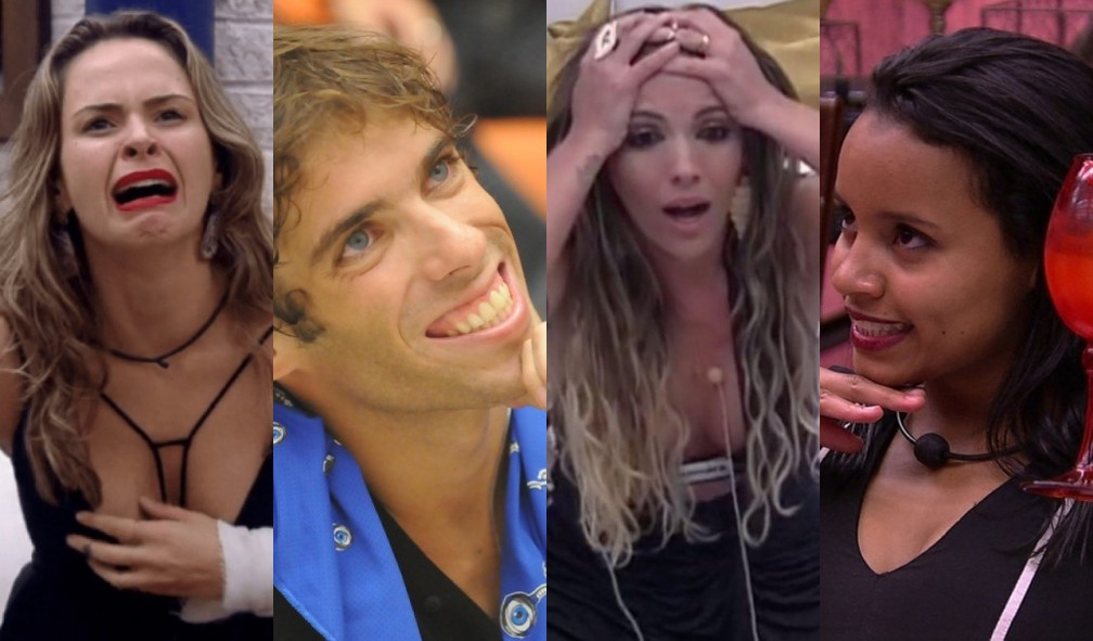 Ana Paula, Mau Mau, Anamara e Gleici foram protagonistas de paredões falsos no 'BBB' — Foto: Reprodução/TV Globo
