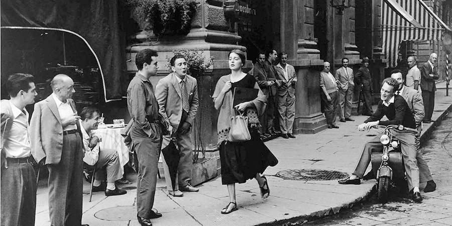 Cena produzida pela fotógrafa Ruth Orkin (Foto: COURTESIA DO RUTH ORKIN PHOTO ARCHIVE)