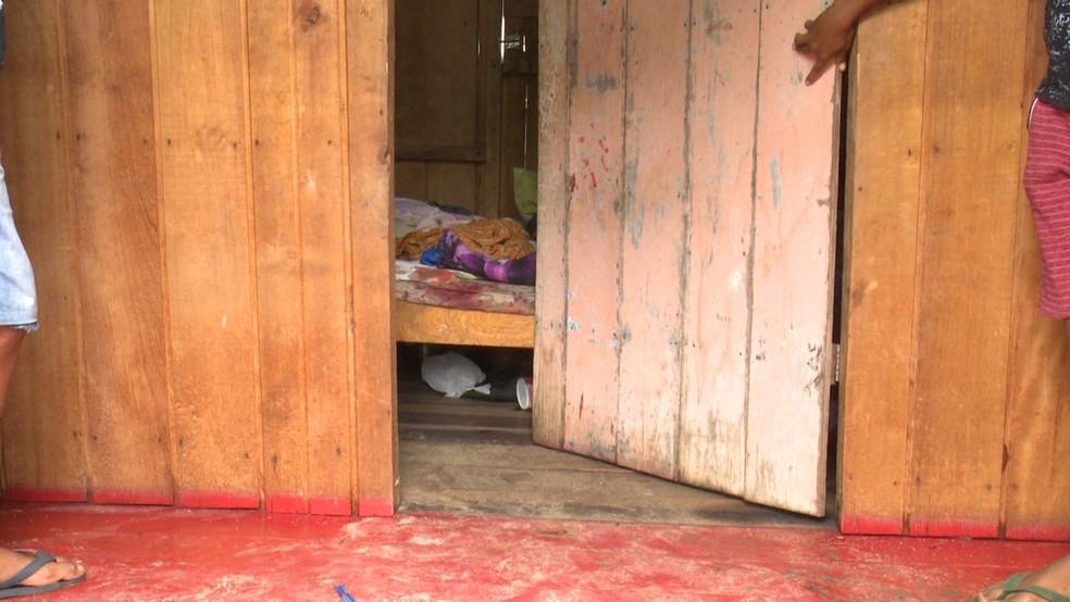 Local onde o crime aconteceu — Foto: Gledisson Albano/ Rede Amazônica