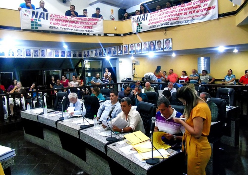 Aprovação do fundo foi tomada durante sessão na Câmara de Vereadores de Muriaé (Foto: Câmara de Vereadores de Muriaé/Divulgação)