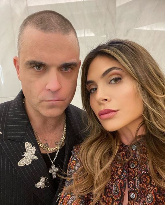 Robbie Williams e Ayda Field (Foto: Instagram)