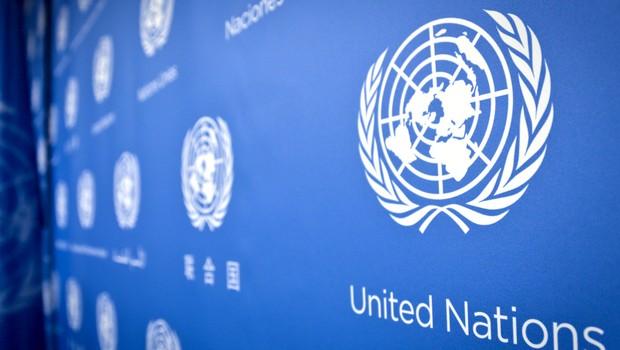 Painel na sede das Nações Unidas (ONU) em Nova York (Foto: Reprodução/YouTube)