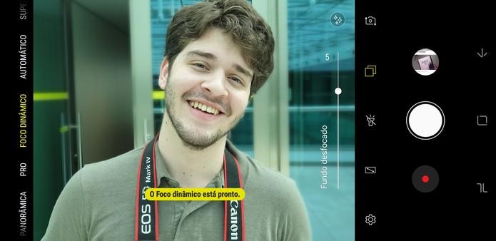 Galaxy Note 9 Foco Dinâmico (Foto: Reprodução/Thássius Veloso)