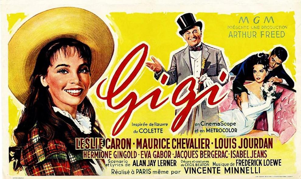 Pôster de Gigi, filme musical inspirado na obra de Colette (Foto: Divulgação)