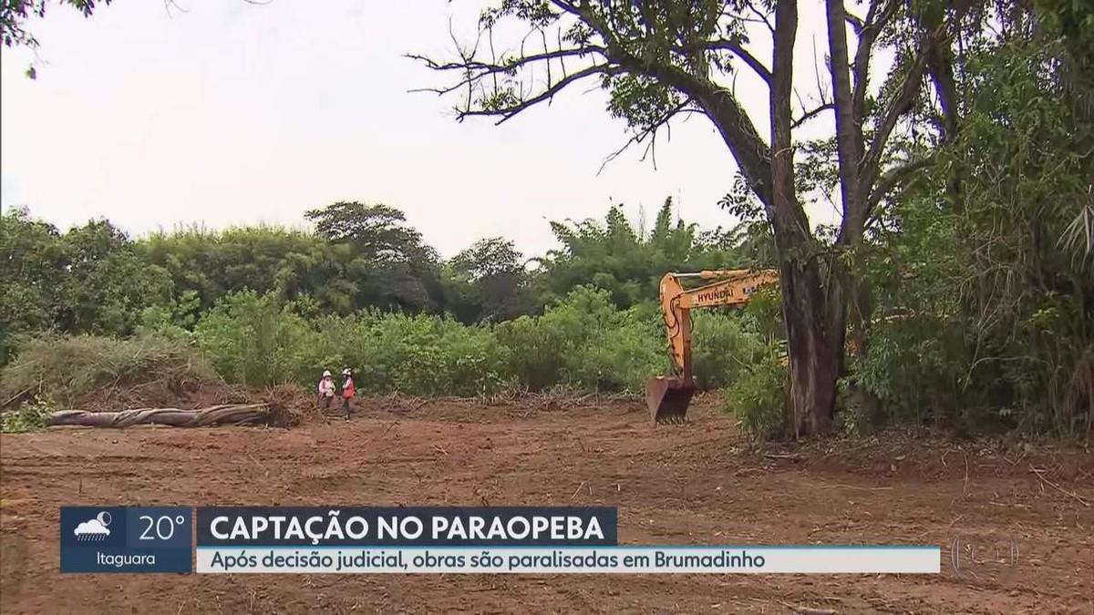 Brumadinho: Justiça manda paralisar obras de captação de água no Rio Paraopeba - G1