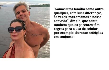Flávia Alessandra e Otaviano Costa registraram momentos de casal. Ela conta que os dois estipularam regras para uso de celular Reprodução