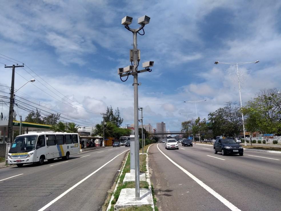 Radares voltam a funcionar nas rodovias federais do RN neste sábado (23)  (Foto: Lucas Cortez/G1)