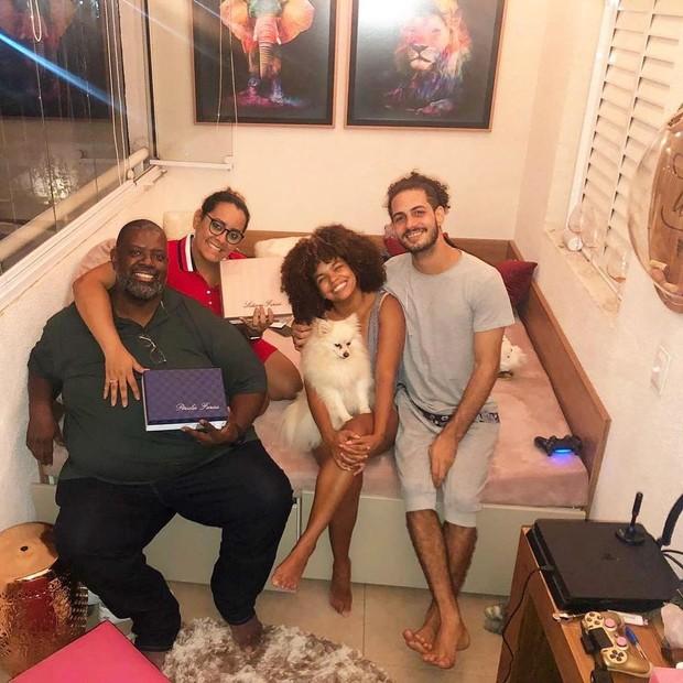 Pérciles, Lidiane, Jennifer e Jean (Foto: Reprodução/Instagram)