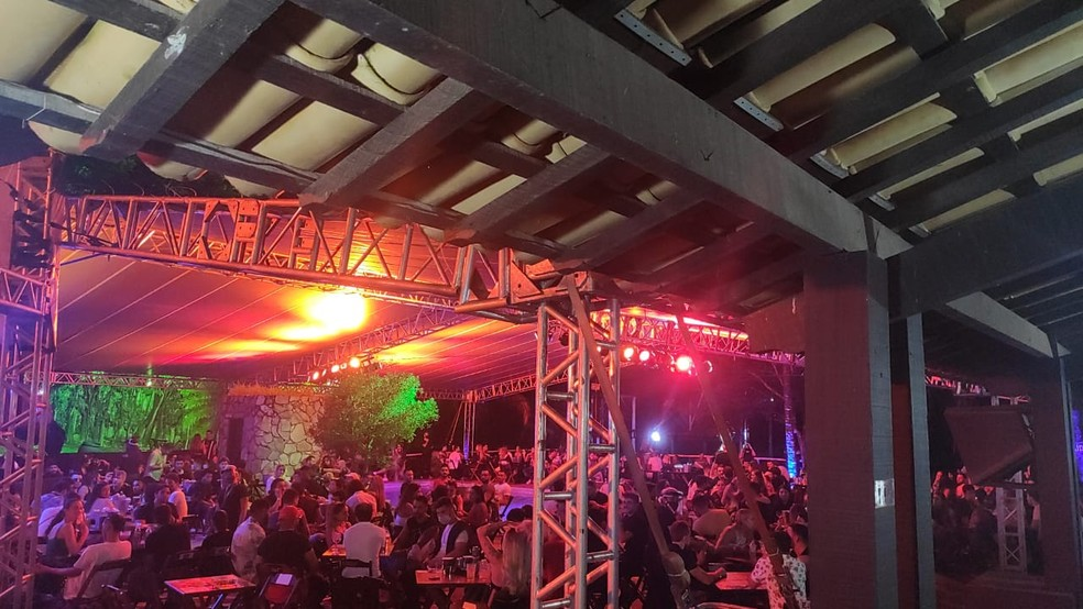 Festa de música eletrônica reunia aproximadamente 600 pessoas — Foto: Divulgação/Guarda Municipal de Contagem