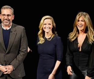 Steve Carell, Rheese Whiterspoon e Jennifer Aniston   Divulgação