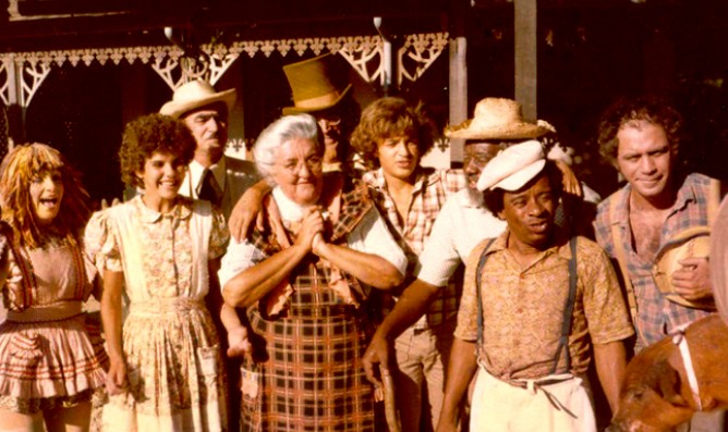 O elenco da primeira versão do 'Sítio do Pica-Pau Amarelo' (Foto: Acervo/Globo)