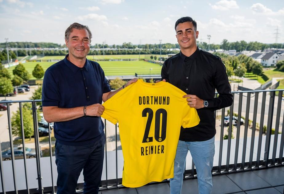 Reinier assina contrato de dois anos com Borussia Dortmund e ganha camisa 20