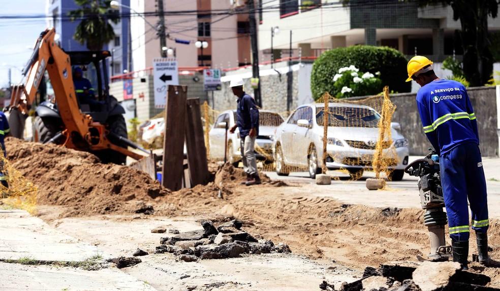 As obras da segunda etapa do projeto Olinda+Água já tiveram início (Foto: Compesa/Divulgação)