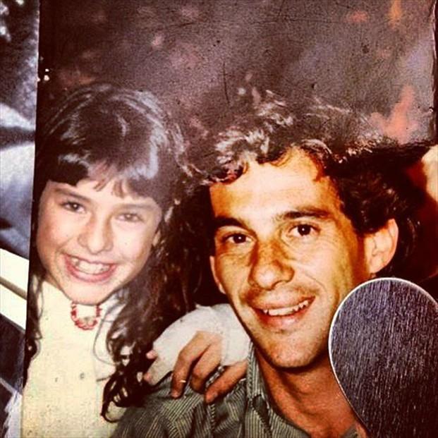 Fernanda Paes Leme e Ayrton Senna (Foto: Reprodução/Instagram)