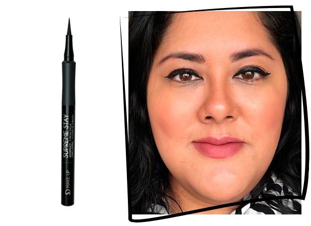 Fabiana Sato testa o Supreme Stay da SD Make Up (Foto: Reprodução)