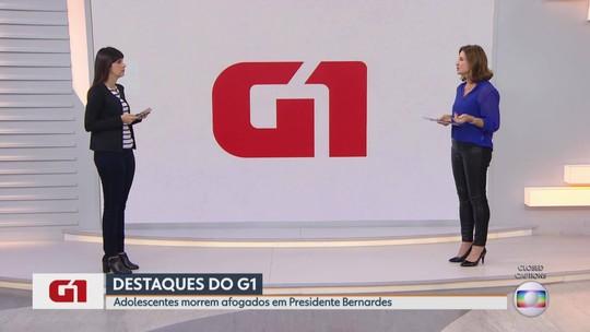 G1 no MG1: Duas pessoas morrem afogadas no Rio Piranga, em Presidente Bernardes