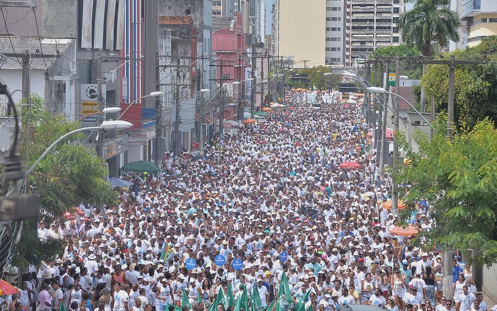 Fiéis em cortejo pelas ruas da Cidade Baixa, em Salvador Festa do Senhor do Bonfim  (Foto: Max Haack/Ag Haack)