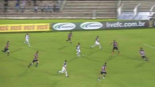 Botafogo-PB não consegue fazer o jogo fluir e para na forte marcação do Santa