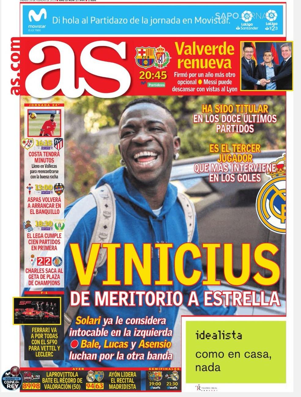 Vinicius Junior tem motivos para rir à toa no Real Madrid — Foto: Reprodução / Twitter