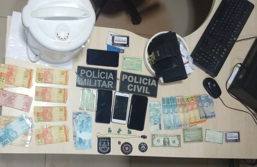 Mulheres são presas suspeitas pelo crime de receptação em Rurópolis — Foto: Polícia Civil/Divulgação