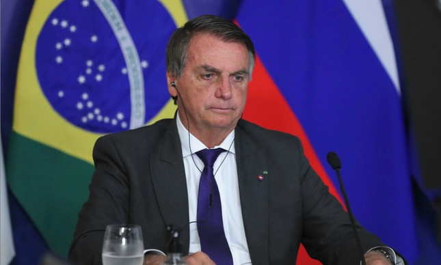 O presidente Jair Bolsonaro, em videoconferência na XIII Cúpula do BRICS.