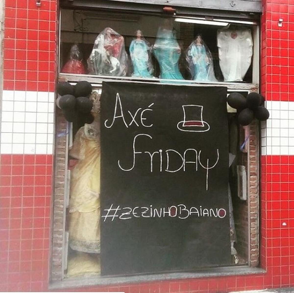 Loja de umbanda de Mogi entra no clima da Black Friday e cria o 'Axé Friday'