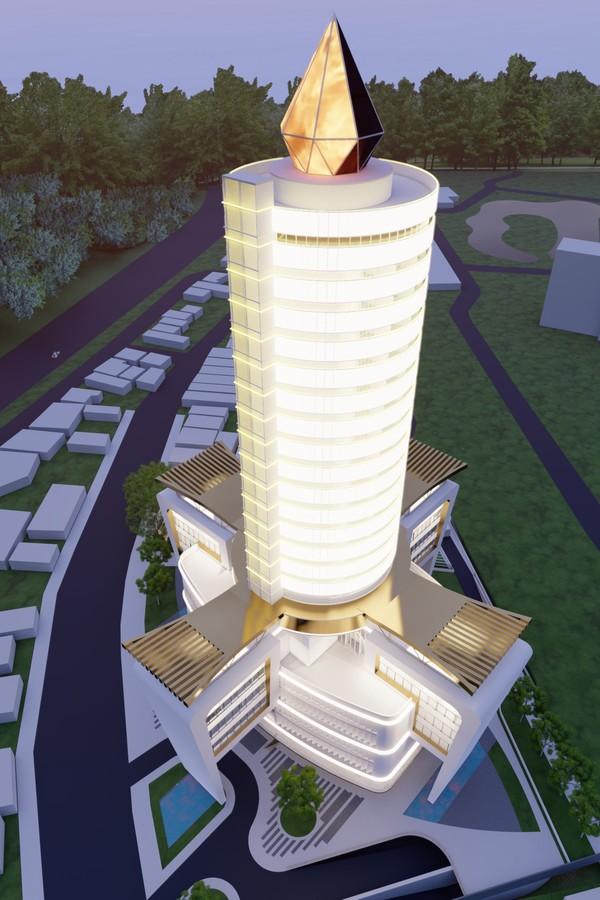 Maior prédio em formato de vela do mundo será construído em Aparecida  (Foto: Divulgação )